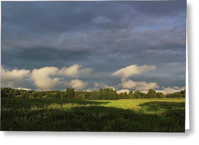 Cloudline Greeting Card by Jerry LoFaro