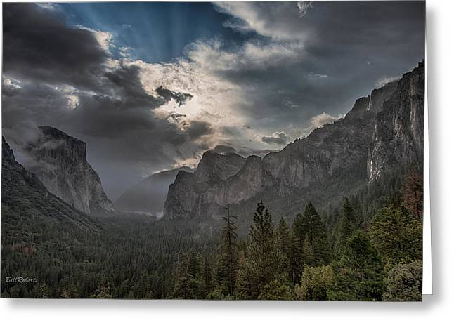 Tunnel View Greeting Cards - Clouds and Light Greeting Card by Bill Roberts