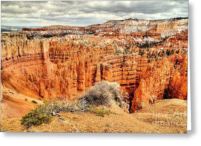 Southern Utah Greeting Cards - Clouds and Red Rock Greeting Card by Roxie Crouch