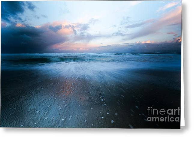 Scenic Greeting Cards - Clouds And Specks Greeting Card by Jon Olmstead