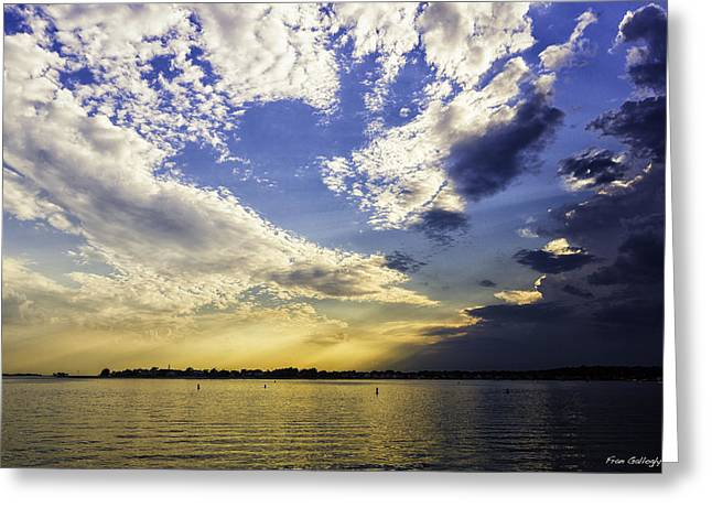 Westport Ct Greeting Cards - Clouds at Twilight Greeting Card by Fran Gallogly