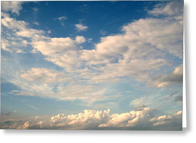 Cotton Balls Greeting Cards - Clouds Clouds Clouds Greeting Card by Susanne Van Hulst