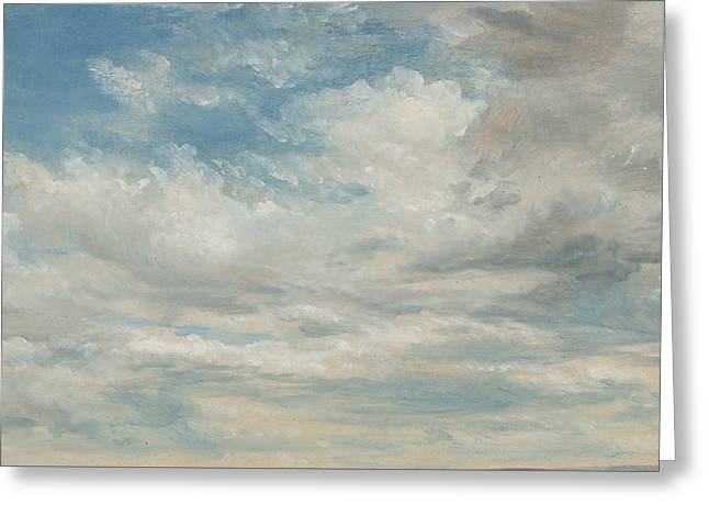 Clouds Greeting Card by John Constable