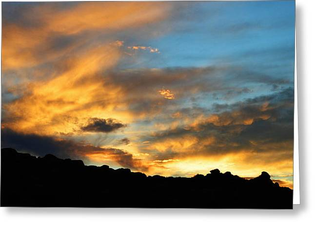 The Sun God Photographs Greeting Cards - Clouds Of Liquid Gold Greeting Card by Glenn McCarthy Art and Photography