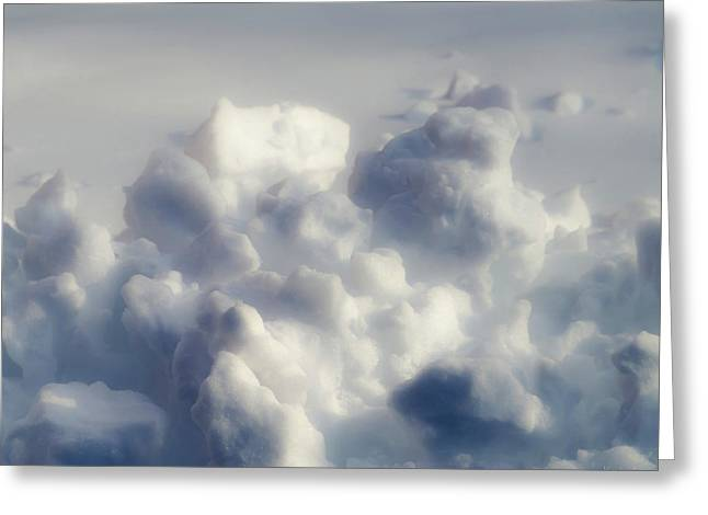Snow Abstract Greeting Cards - Clouds of Snow Greeting Card by Wim Lanclus