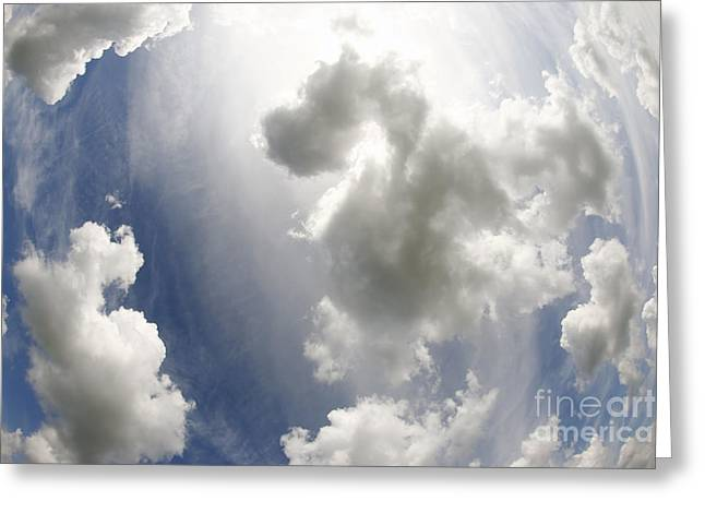 Fanciful Greeting Cards - Clouds On The Sky Greeting Card by Michal Boubin