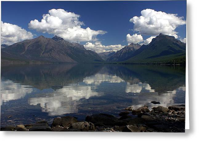 Clouds On The Water Greeting Card by Marty Koch