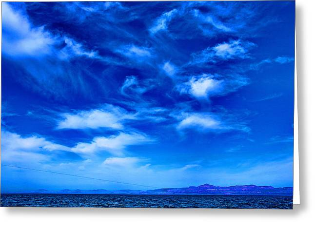 Sea Of Cortez Greeting Cards - Clouds Over Cortez Greeting Card by Russ Harris