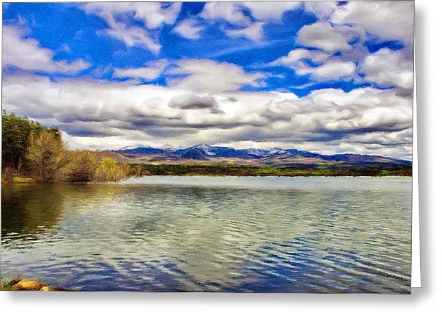 Mancos Greeting Cards - Clouds over Distant Mountains Greeting Card by Jeff Kolker