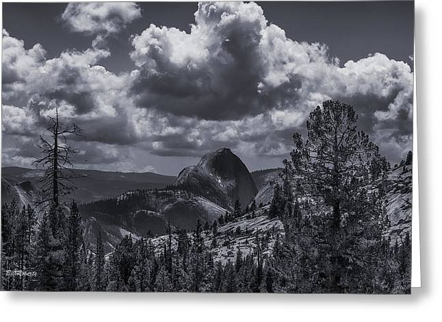 Half Dome Greeting Cards - Clouds Over Half Dome Greeting Card by Bill Roberts