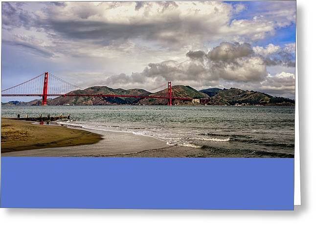 Beach Landscape Greeting Cards - Clouds Over Marin Greeting Card by Dan Shehan