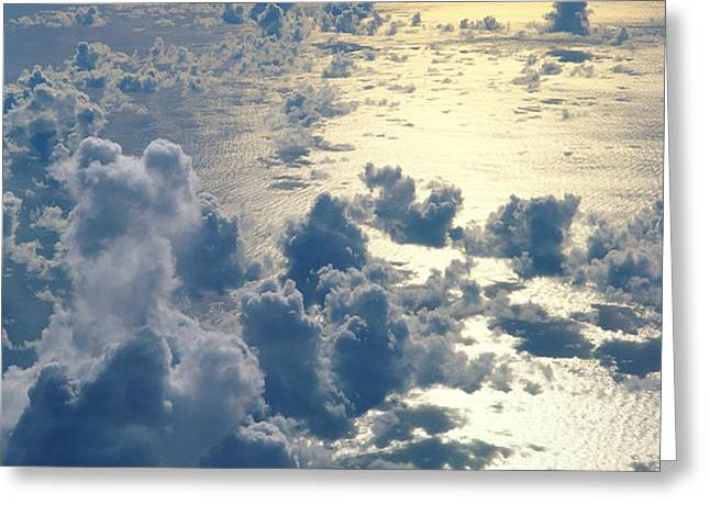 Clouds Over Ocean Greeting Card by Ed Robinson - Printscapes