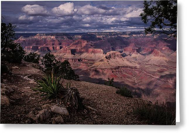 Storm Clouds Pyrography Greeting Cards - Clouds over the Grand Canyon Greeting Card by Rick Strobaugh