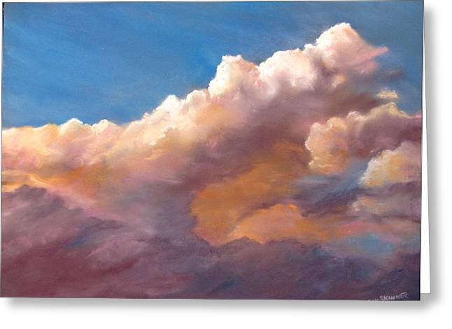 Clouds Over The Island Greeting Card by Jack Skinner