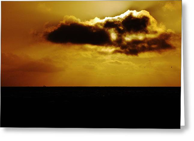 Bruster Greeting Cards - Clouds Over The Ocean Greeting Card by Clayton Bruster