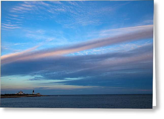 Octagon Greeting Cards - Clouds Over The Point Greeting Card by Karol  Livote