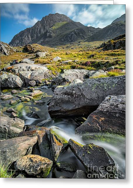 Moss Greeting Cards - Clouds Over Tryfan Greeting Card by Adrian Evans