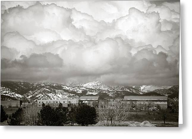 Cumulus Nimbus Greeting Cards - Clouds Rolling In 1 Greeting Card by Marilyn Hunt