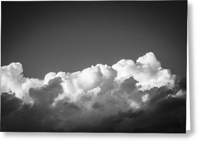 Golden Shower Greeting Cards - Clouds Stratocumulus Blue Sky Painted BW 1 Greeting Card by Rich Franco