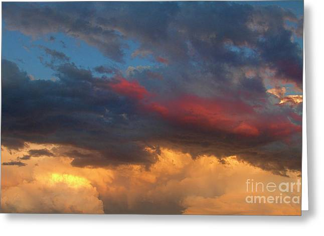 Sunset Canvas Art Greeting Cards - Cloudscape Before the July 13th Storm 24 Greeting Card by James BO  Insogna