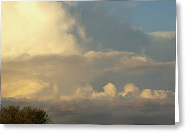 Lewisburg Greeting Cards - Cloudscape One Greeting Card by Caroline Czelatko