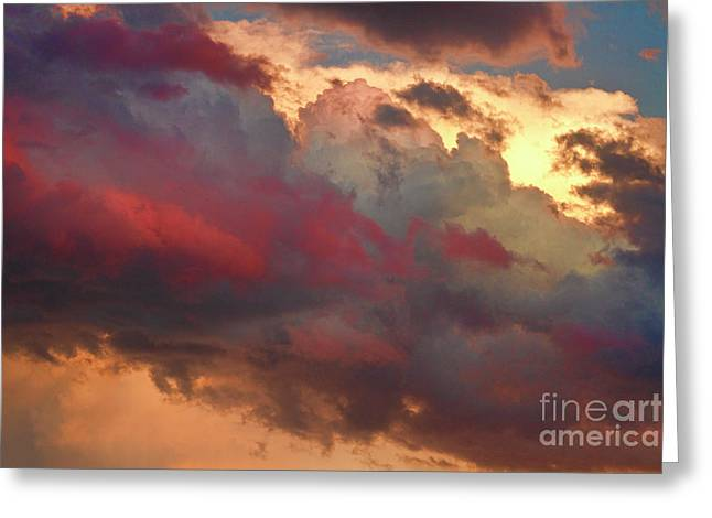 Sunset Canvas Art Greeting Cards - Cloudscape Sunset 46 Greeting Card by James BO  Insogna