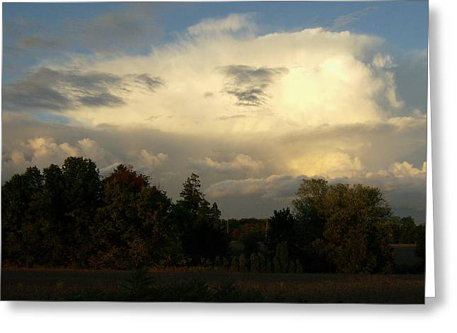 Lewisburg Greeting Cards - Cloudscape Two Greeting Card by Caroline Czelatko