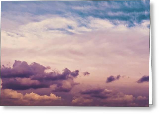 Cloudscape Greeting Card by Wim Lanclus