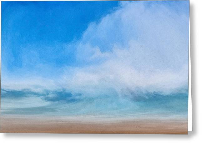 Resurrection Digital Greeting Cards - Cloudy Horizon Greeting Card by LC Bailey