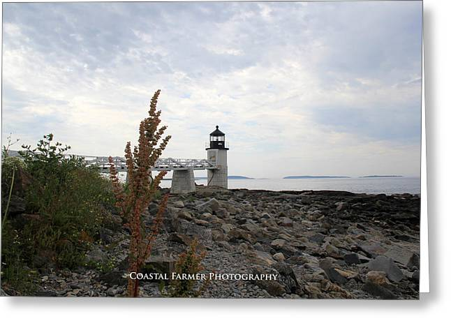 Coastal Maine Greeting Cards - Cloudy Summer Day Greeting Card by Becca Brann