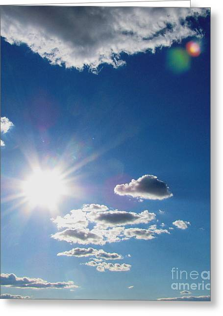 Original Photographs Greeting Cards - Cloudy with a Chance of Sun Greeting Card by Colleen Kammerer