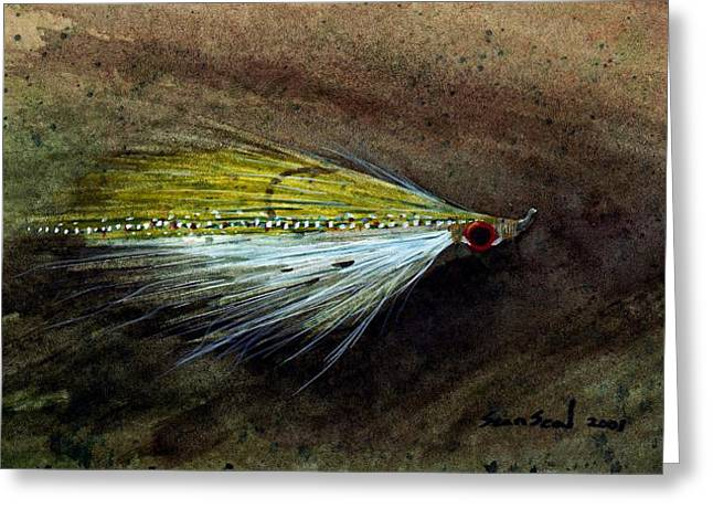 Sean Seal Greeting Cards - Clouser Minnow Greeting Card by Sean Seal