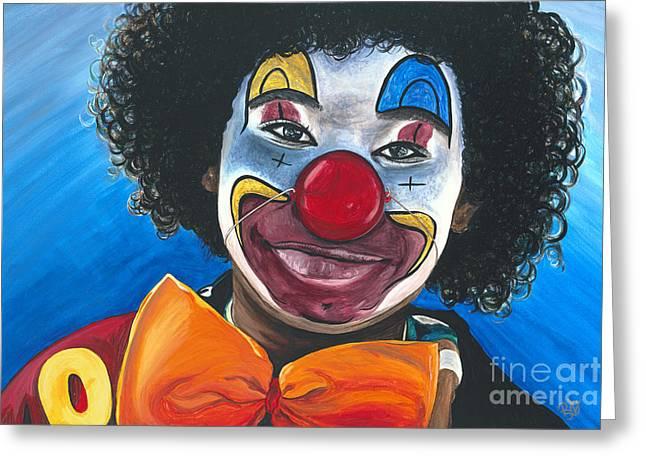 Clown Art Greeting Cards - Clowning Around Greeting Card by Patty Vicknair