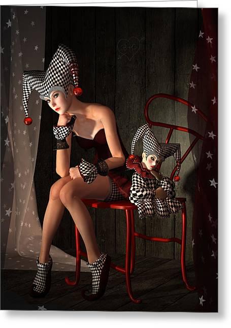 Clowns Not Joking Greeting Card by Britta Glodde