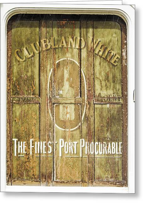 Grocery Store Greeting Cards - Clubland White....vintage sign Greeting Card by Hal Halli