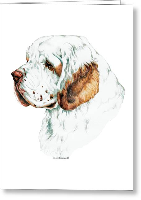 Clumber Spaniel Greeting Card by Kathleen Sepulveda