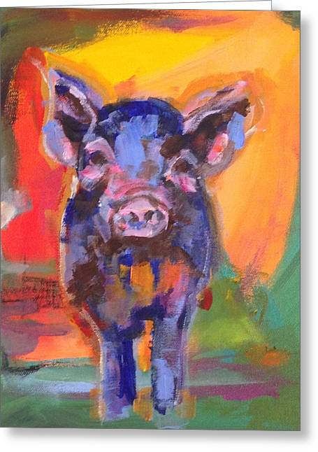 Piglets Greeting Cards - Clyde Greeting Card by Molly Wright