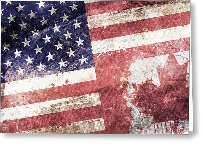 Tattered Greeting Cards - Co-Patriots  Greeting Card by Az Jackson