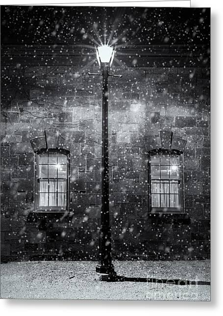 Coach House In Winter Greeting Card by Trevor Chapman