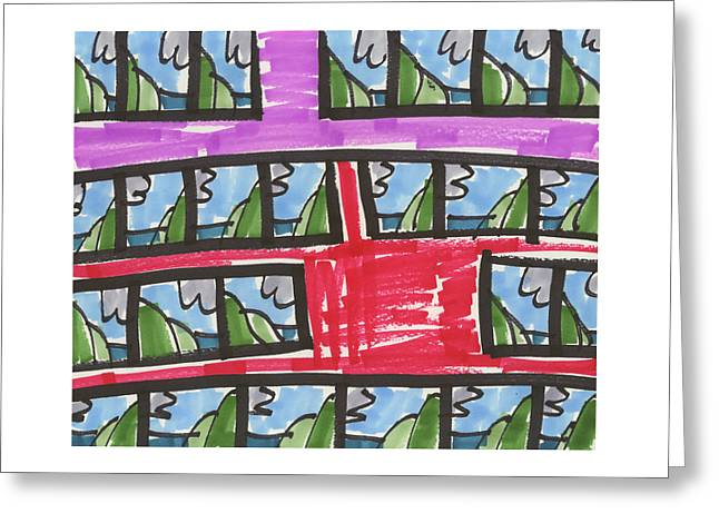 Repetition Drawings Greeting Cards - Coal Coast #25 2013 Greeting Card by Artcollect