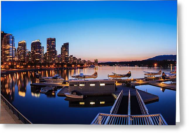 Vancouver Greeting Cards - Coal Harbour Greeting Card by Alan W