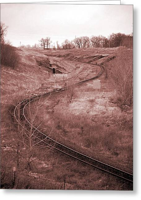 Jame Hayes Greeting Cards - Coal Line S Greeting Card by Jame Hayes