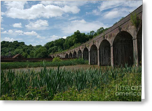 Coalbrookdale Greeting Cards - Coalbrookdale Railway Viaduct Greeting Card by Mickey At Rawshutterbug