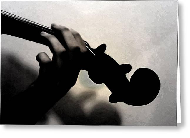 Violin Digital Greeting Cards - Coalescence  Greeting Card by Steven  Digman