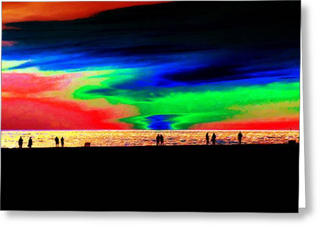 Panoramic Ocean Digital Greeting Cards - Coast People Greeting Card by David Lee Thompson