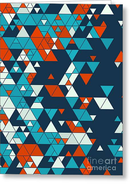 Vector Greeting Cards - Coast Triangle Design Background Greeting Card by Frank Ramspott