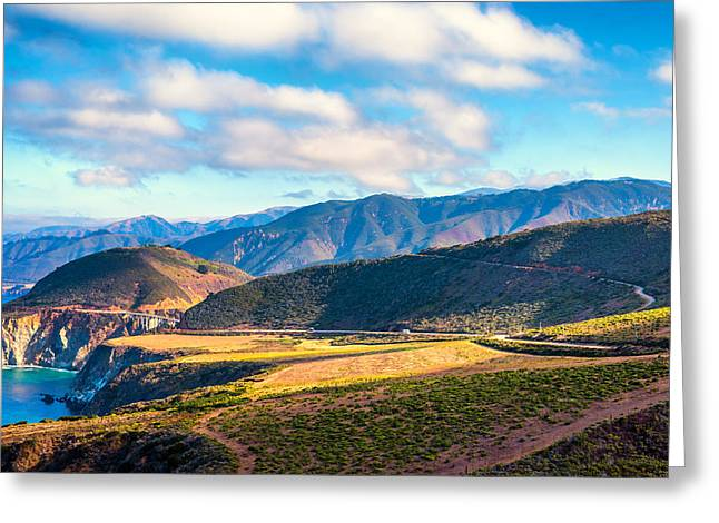 Big Sur California Greeting Cards - Coastal Big Sur Greeting Card by Joseph S Giacalone