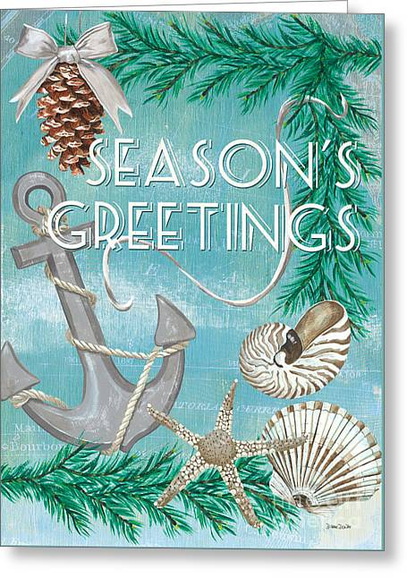 Coastal Christmas Card Greeting Card by Debbie DeWitt