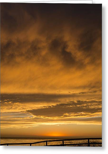 Colorful Cloud Formations Greeting Cards - Coastal Clouds and Colors Greeting Card by Kerry Drager