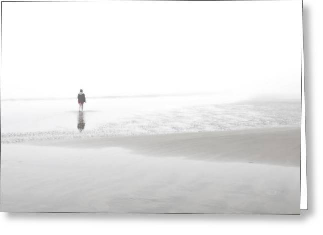Foggy Ocean Greeting Cards - Coastal Dreams Greeting Card by Sh Suddes